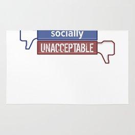 Socially Unacceptable  Rug