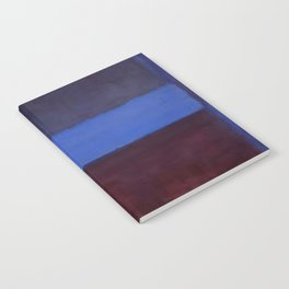No.61 Rust and Blue 1953 by Mark Rothko Notebook