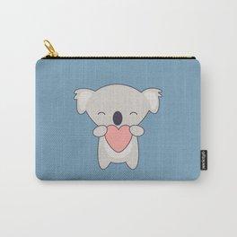 Kawaii Cute Koala With Heart Carry-All Pouch