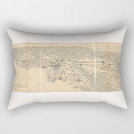 Vintage 1915 Los Angeles Area Map Rectangular Pillow