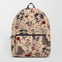 Suzy Sailor Pattern Backpack