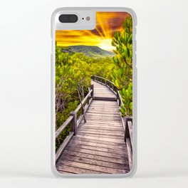 Mangrove Forest Sunset Clear iPhone Case