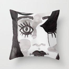Broken Doll Throw Pillow