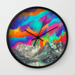 Sky fall, Melting Northern Lights Wall Clock