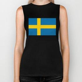 National flag of Sweden Biker Tank