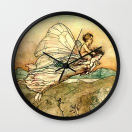 """Bear the Changeling to My Bower"" Art by Arthur Rackham Wall Clock"