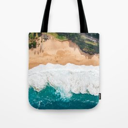 Waimea Bay Aerial Tote Bag