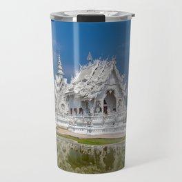 White Temple Thailand Travel Mug