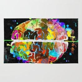 Human Brain Black Rug