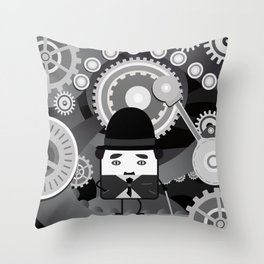 Charlot - Funny Cubes Series Throw Pillow
