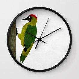 Green Woodpecker Wall Clock