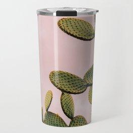 Cactus on Pink Sky Travel Mug