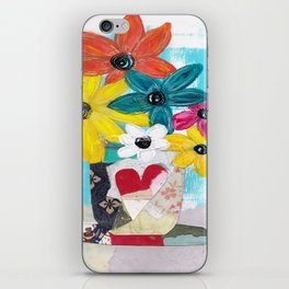 PATCHWORK VASE iPhone Skin