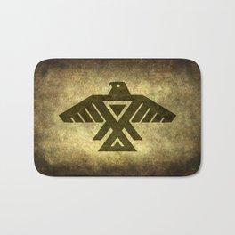 Symbol of the Anishinaabe, Ojibwe (Chippewa) on  parchment Bath Mat