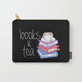 Bookworm Books and Tea - Inverted Carry-All Pouch