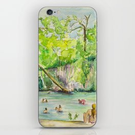Krause Springs - historic Texas natural springs swimming hole iPhone Skin