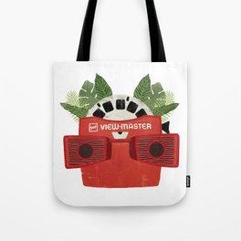 Retro Viewmaster Botanical Print Tote Bag