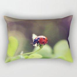 Ladybird, ladybird, fly away home.. Rectangular Pillow