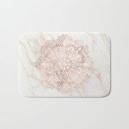 Rose Gold Mandala Marble Bath Mat