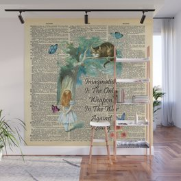 Alice In Wonderland Quote - Imagination - Dictionary Page Wall Mural