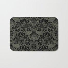 Stegosaurus Lace - Black / Grey - Bath Mat