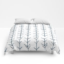Twigs and branches freeform gray Comforters