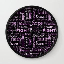 Breast Cancer - Black Wall Clock