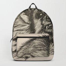 Badger Bad Original b/w ink Backpack