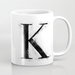 K. - Distressed Initial Coffee Mug