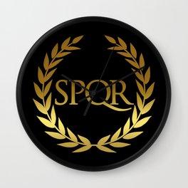 Roman SPQR Wall Clock