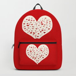 LOVE you! Watercolor Hearts. Valentine's Day Card Backpack