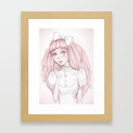 Albino Girl Framed Art Print