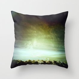 bridgers and clouds II Throw Pillow