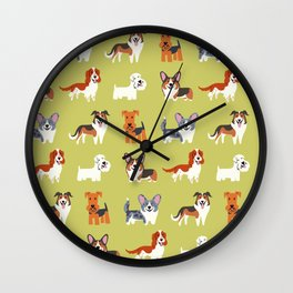 WELSH DOGS Wall Clock