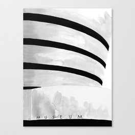 Architecture sketch of the Guggenheim Museum New York Canvas Print