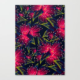 New Zealand Rata floral print (Night) Canvas Print