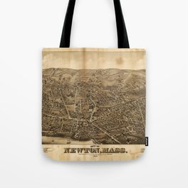Aerial View of Newton, Massachusetts (1878) Tote Bag