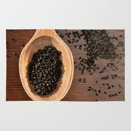 Black Nigella Sativa dry seeds portion Rug