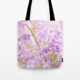 Lilac Flowers Mist Tote Bag