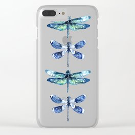 Dragonfly Wings Clear iPhone Case