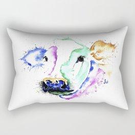 Colourful Cow Rectangular Pillow