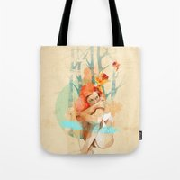 ariana grande Tote Bags featuring Lonely by Ariana Perez