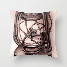 Trees Please: Original Graphite Throw Pillow
