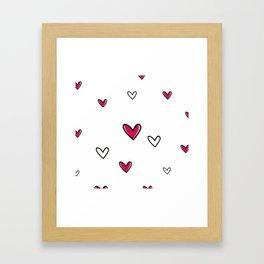 Simly Hearts Framed Art Print