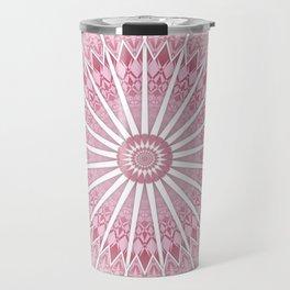 Dusky Pink Mandala Travel Mug
