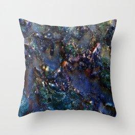Ancient Bedrock on Mars Throw Pillow