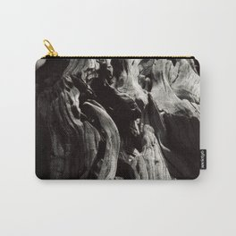 Black and White Tree Bark and Roots Outdoor Nature Photograph Carry-All Pouch