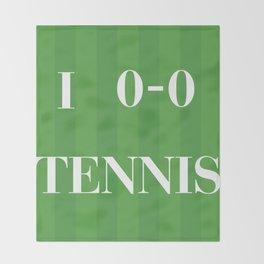 I heart Tennis Throw Blanket