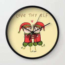 Love Thy Elf Wall Clock