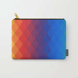Rainbow geometric pattern Carry-All Pouch